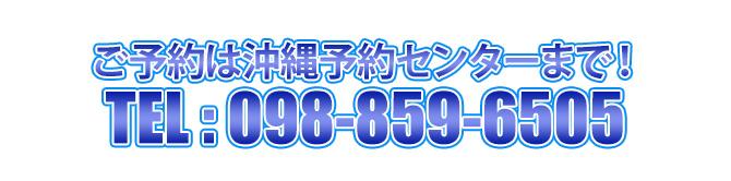 お問い合わせ、ご予約は沖縄予約センターまでお願いします。098-859-6505