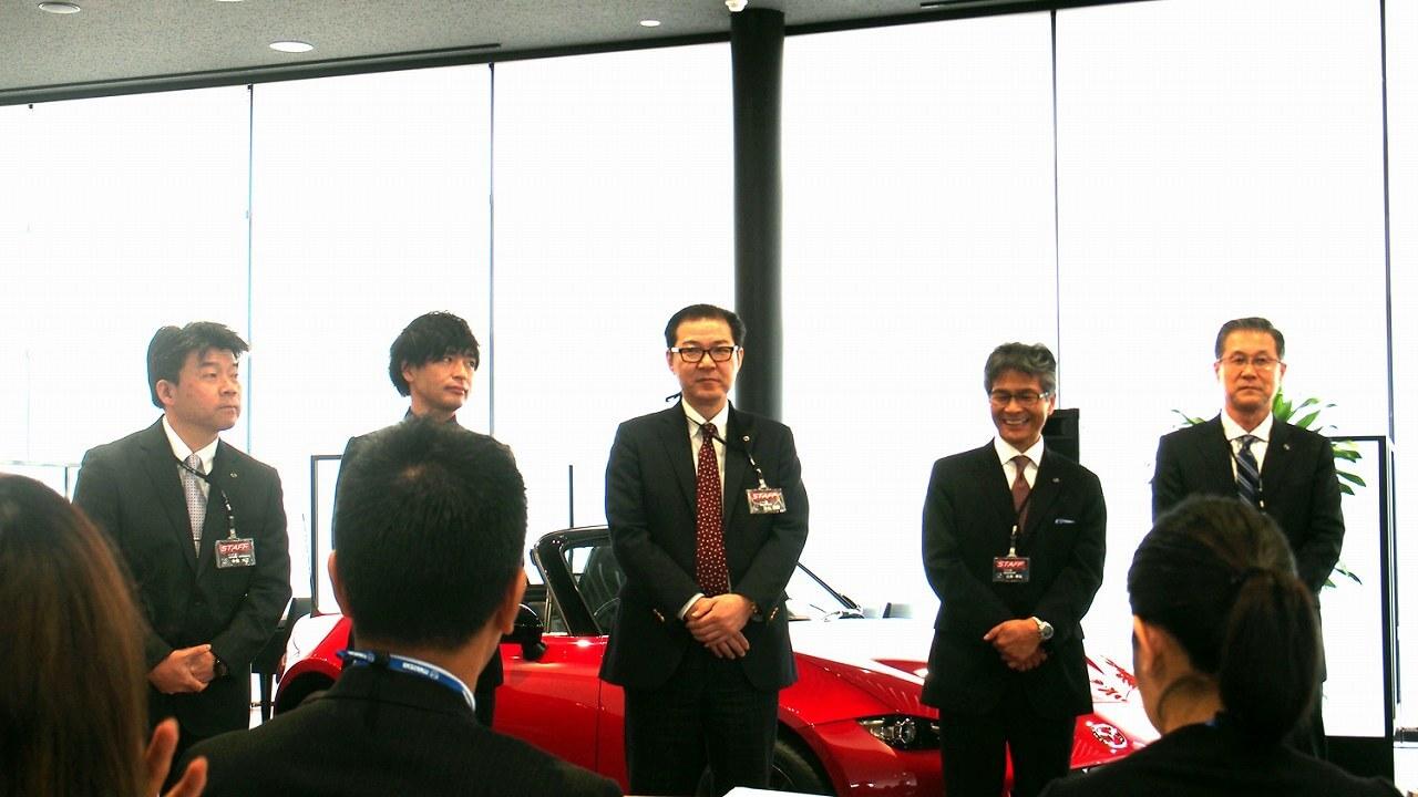 【取材・試乗】豪華な顔ぶれ!マツダ車の開発メンバーが北谷店に集結!