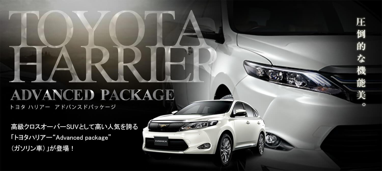 トヨタハリアー車種指定レンタカープラン【禁煙】