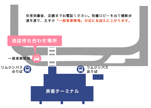神戸空港店舗の送迎情報