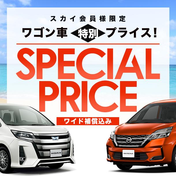 【スカイ会員様限定スペシャルプラン】ワゴン車特別プライス!ワイド補償込み!